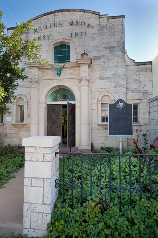 The South Texas Museum, formerly the McGill Brother's headquarters.