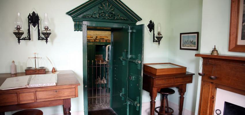 The vault from which the Jesse James gang took $60,000.
