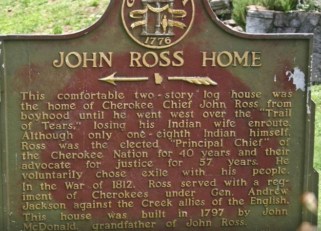 John Ross heritage sign.