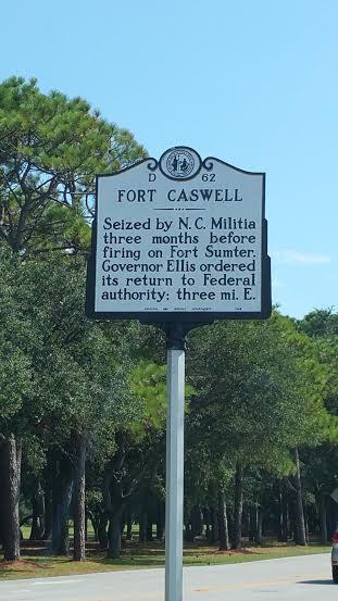 Fort Caswell is located in Oak Island, North Carolina. It was constructed to protect the Cape Fear River and Wilmington, North Carolina.