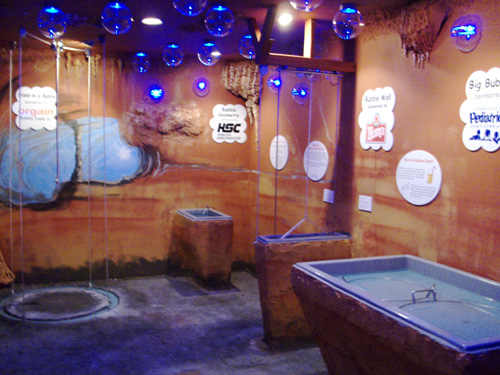Bubble Cave is one of many exhibits built especially for children and their parents.