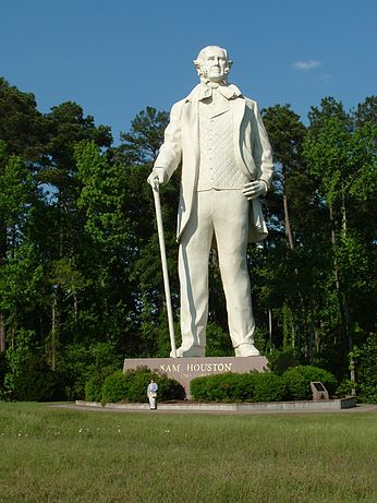 Sam Houston Statue. The Visitor's Center provides guided tours Monday through Friday from 9-5pm, Saturday from 10-5pm, and on Sunday from 11-5pm.