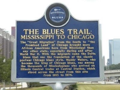 The Blues Trail: Chicago to Mississippi historical marker