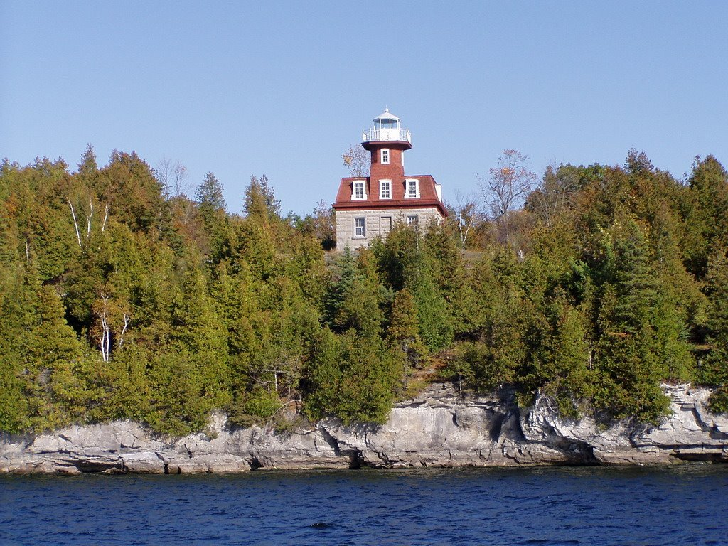 View of the lighthouse from the Lake
