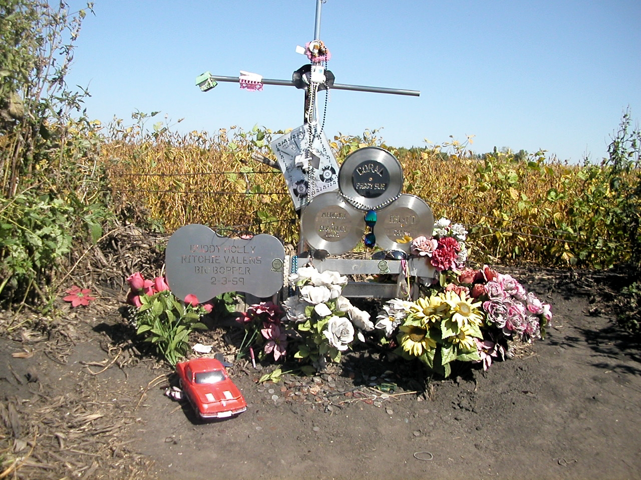Memorial marking the plane crash