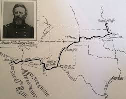 Map depicting the route of the Mormon Battalion