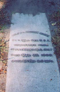 Grave site of Cooke