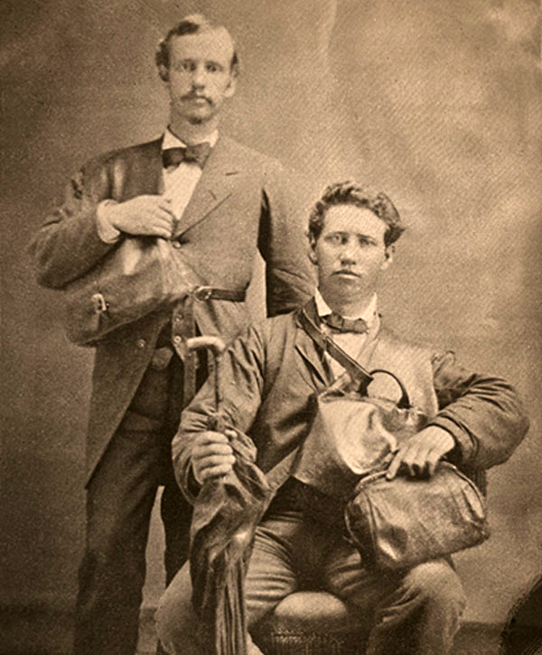 Rudger Clawson (standing) and Joseph Standing in Georgia