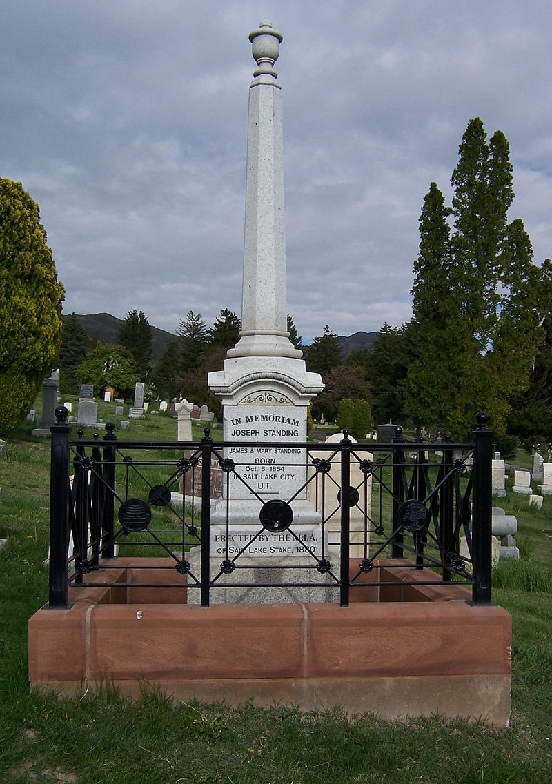 Obelisk on Standing Grave in Salt Lake City