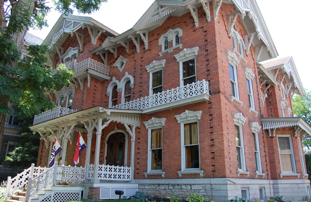 The Paddock Mansion was built in 1876 in the Eastlake style. It has been the home of the Jefferson County Historical Society.