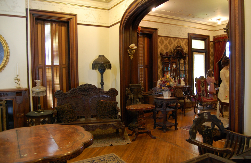 View inside the mansion