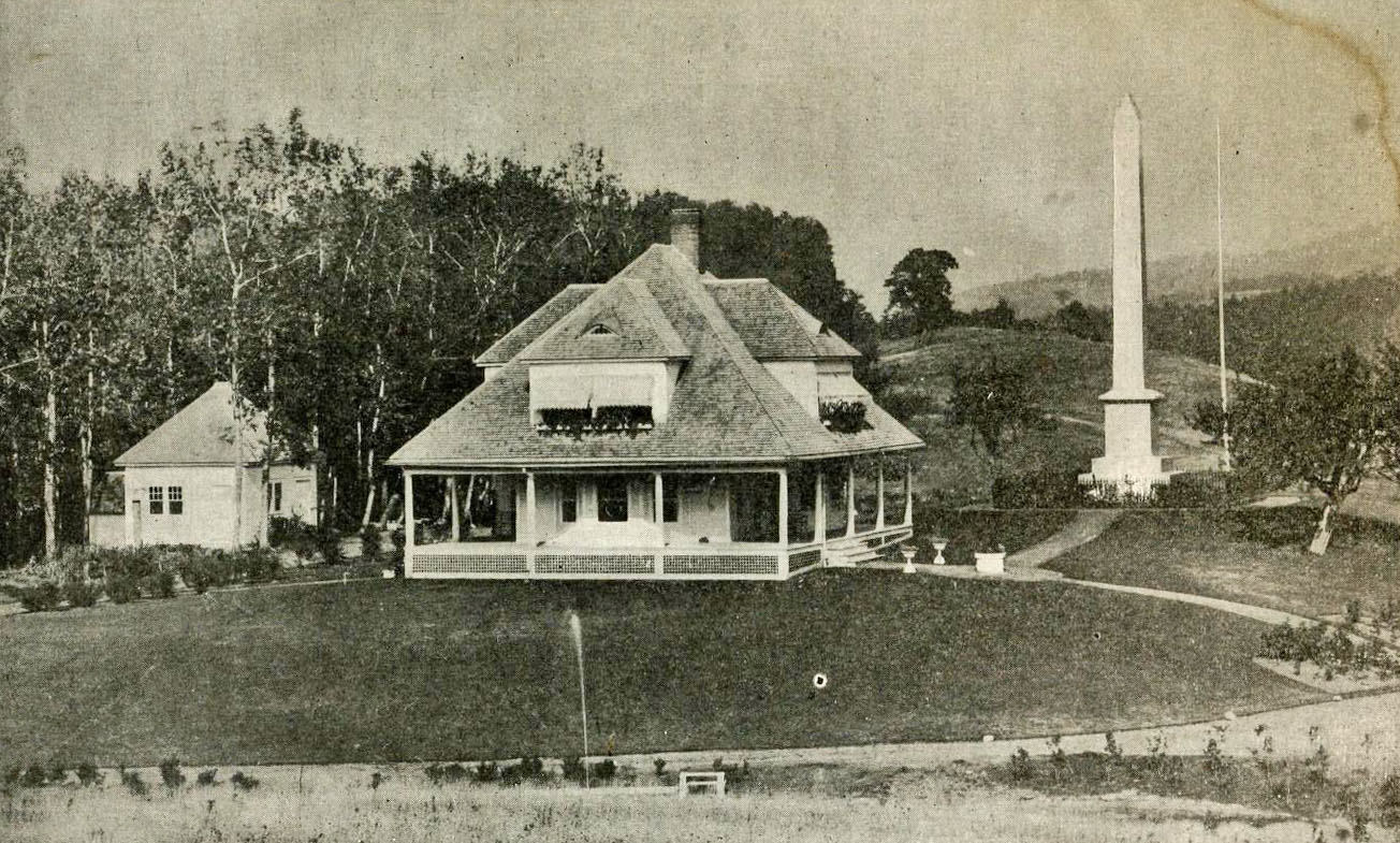 Monument and Cottage in 1905