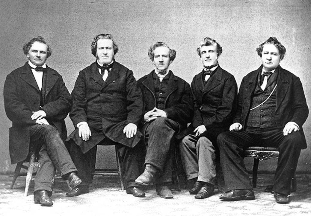 Brigham Young and his brothers. circa 1860s. Courtesy of C. R. Savage collection at the Harold B. Lee Library, Digital Collections, Brigham Young University,