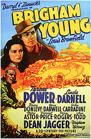 Poster for 1940 film, Brigham Young