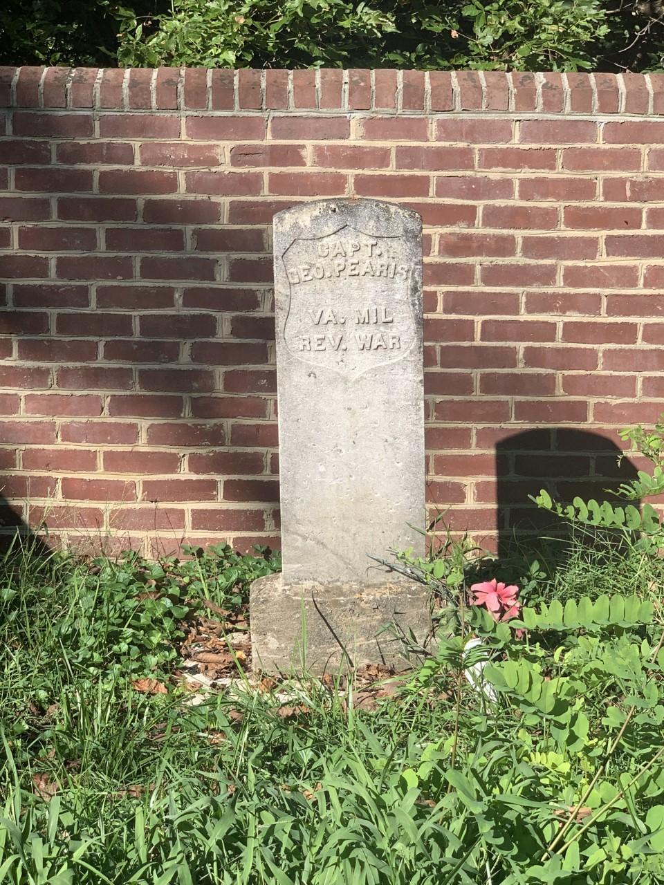 Captain George Pearis' Tombstone
