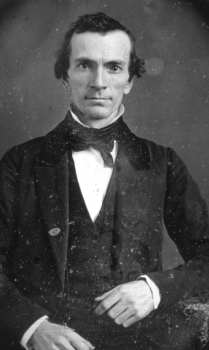 "Recently found daguerreotype of Oliver Cowdery (3 October 1806 – 3 March 1850) in the Library of Congress, DAG no. 1363. Patrick A. Bishop, ""An Original Daguerreotype of Oliver Cowdery Identified"", BYU Studies, 45 (2) 2006, p"