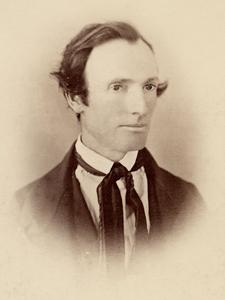 Oliver Cowdery Photograph, unknown photographer, circa 1845. (Church History Library, Salt Lake City. Copy by Coe studio, 1883.)