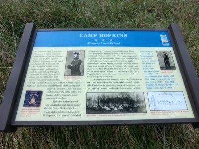 Camp Hopkins marker