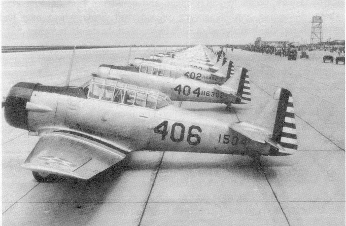Planes at Reese during WW II
