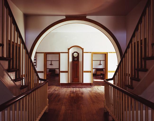 Symmetrical interior of the Centre House