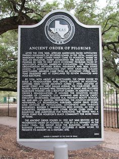 Ancient Order of Pilgrims marker