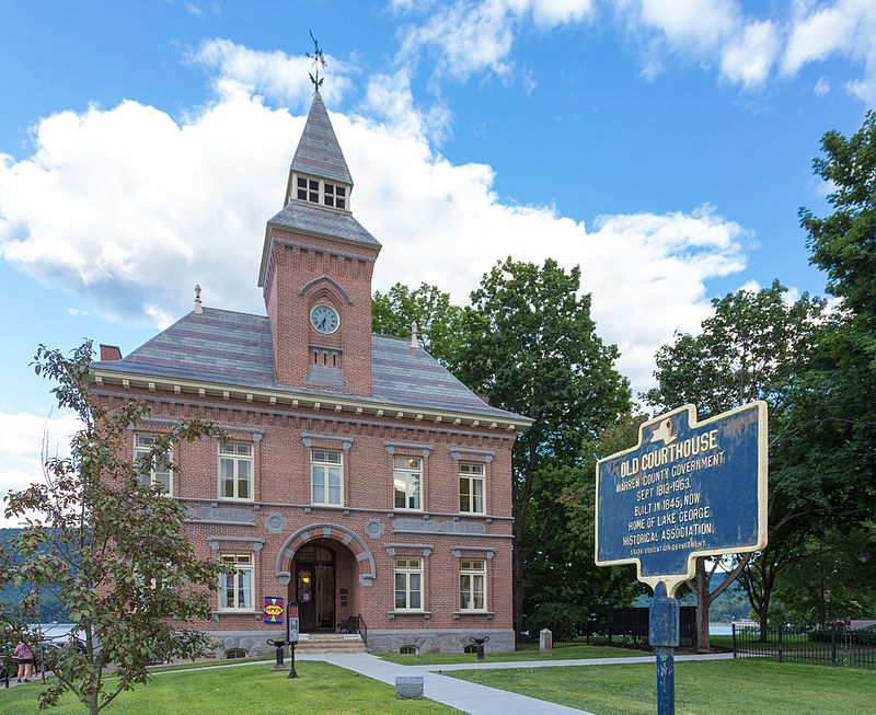 The Old Warren County Courthouse, now home to the Lake George Historical Association and Museum and Lake George Arts Project.