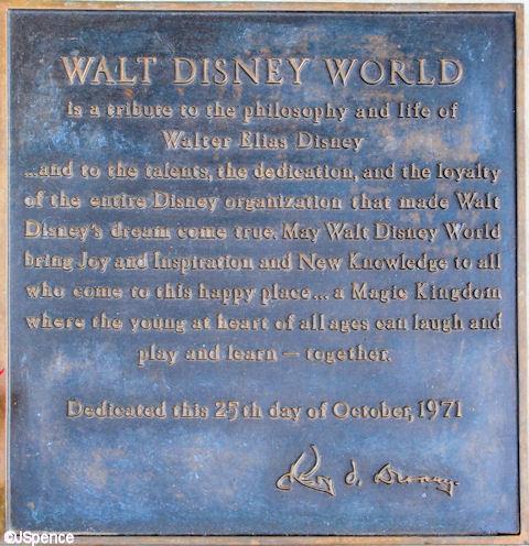 Walt Disney World Plaque