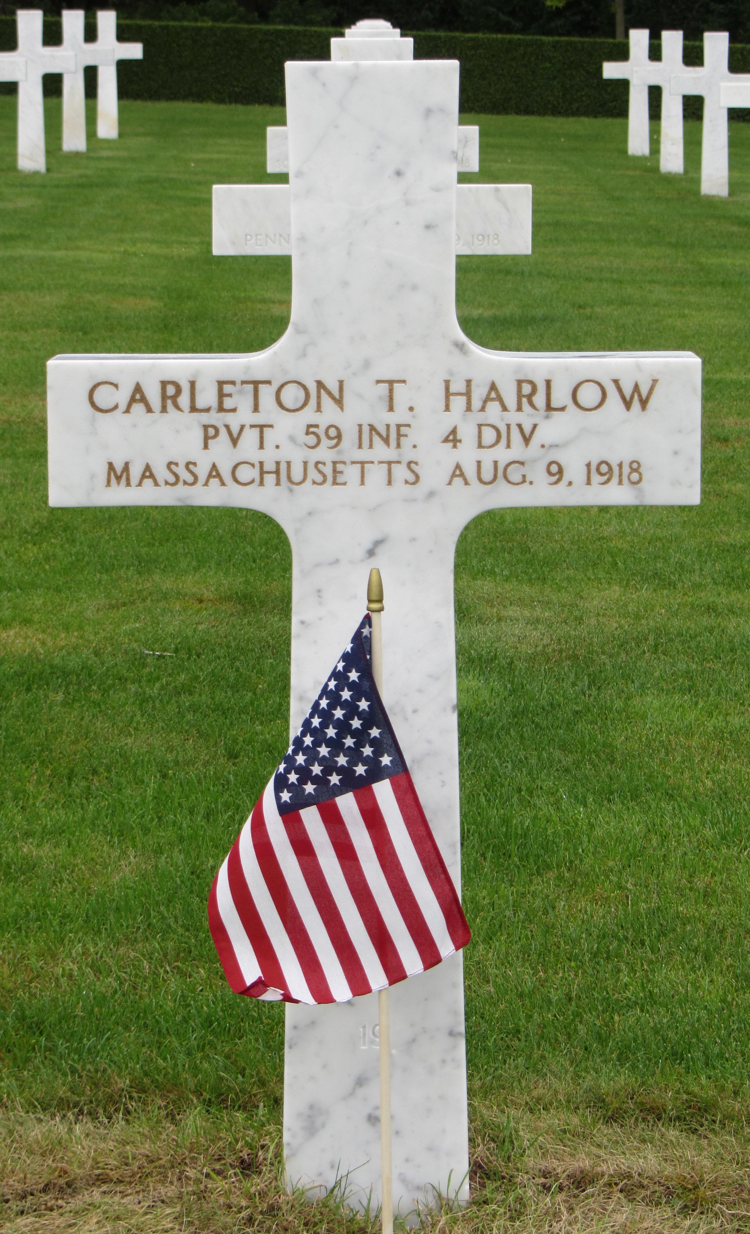 Carleton T. Harlow Grave