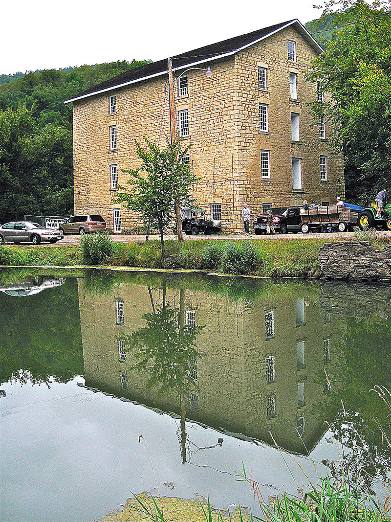 Built prior to the Civil War and used as a sawmill prior to the war, this mil was built with local limestone and features a 20-foot waterwheel.