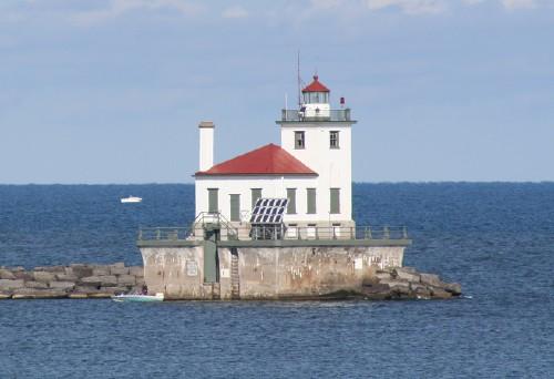 The Oswego Harbor West Pierhead Light