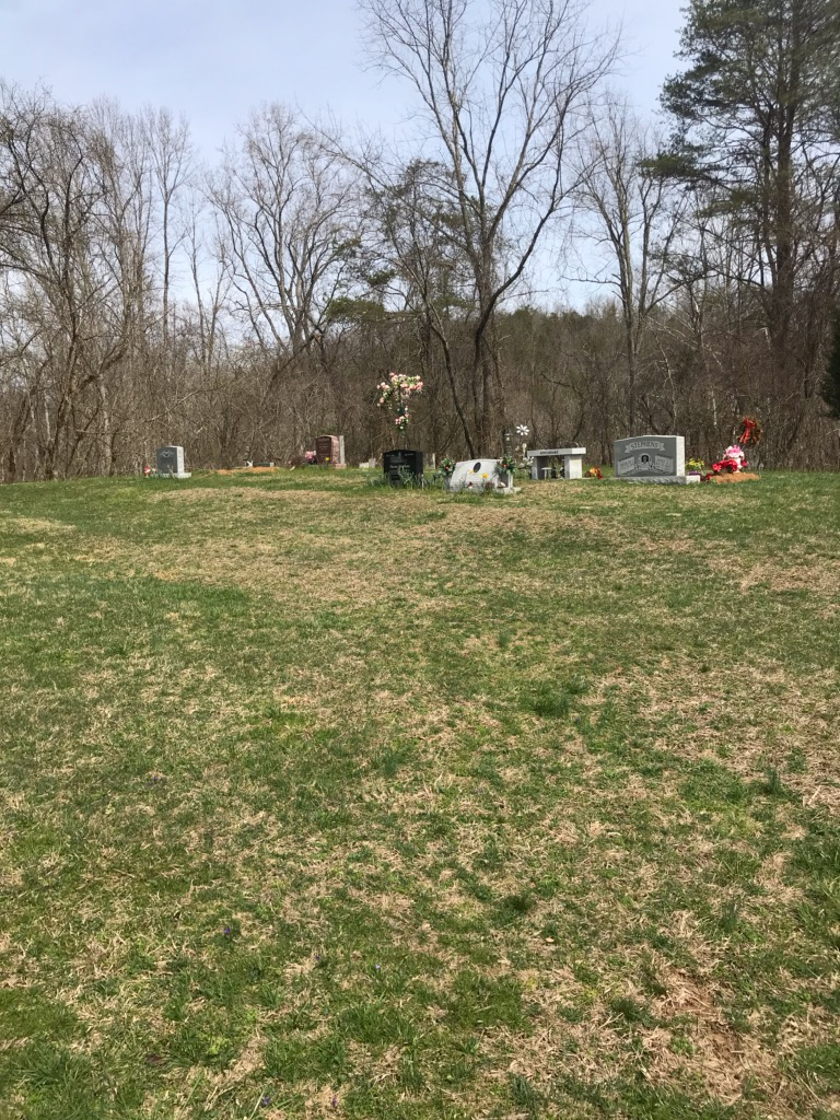 This is the cemetery where Hezekiah and his wife, Molly, are buried; it is a short distance from the historical marker.