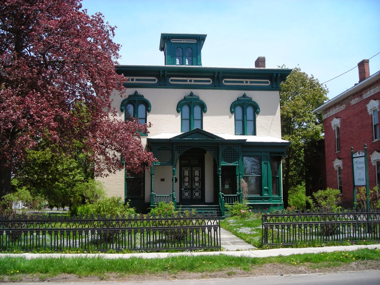 The John Wells Pratt House was built in 1863 and is now a museum operated by the Friends of History.