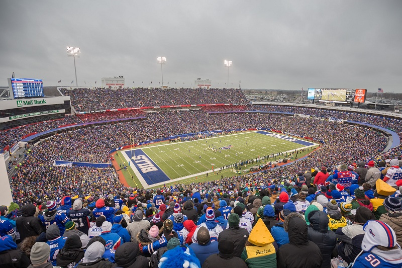 In August of 2016, the Buffalo Bills signed over the naming rights to Ralph Wilson Stadium to the New Era Cap Company. The seven year contract changed the name to New Era Field.