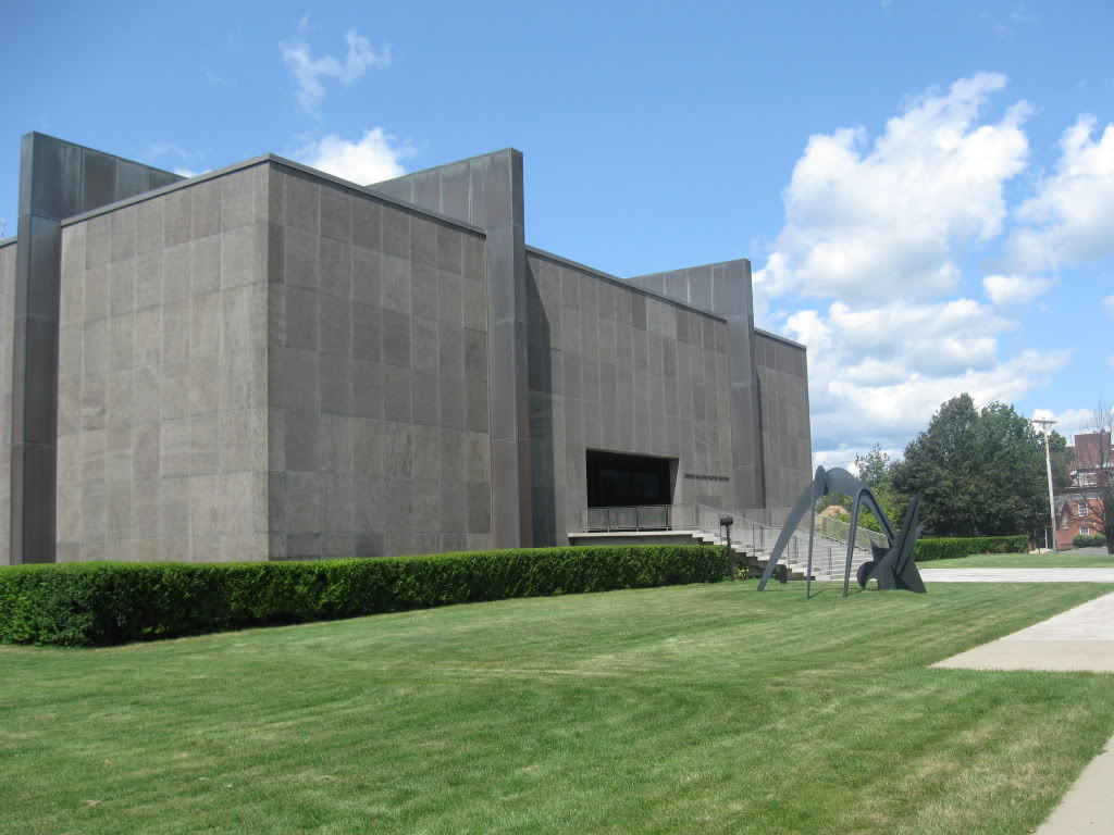 The Philip Johnson designed building of the Munson-Williams-Proctor Arts Institute