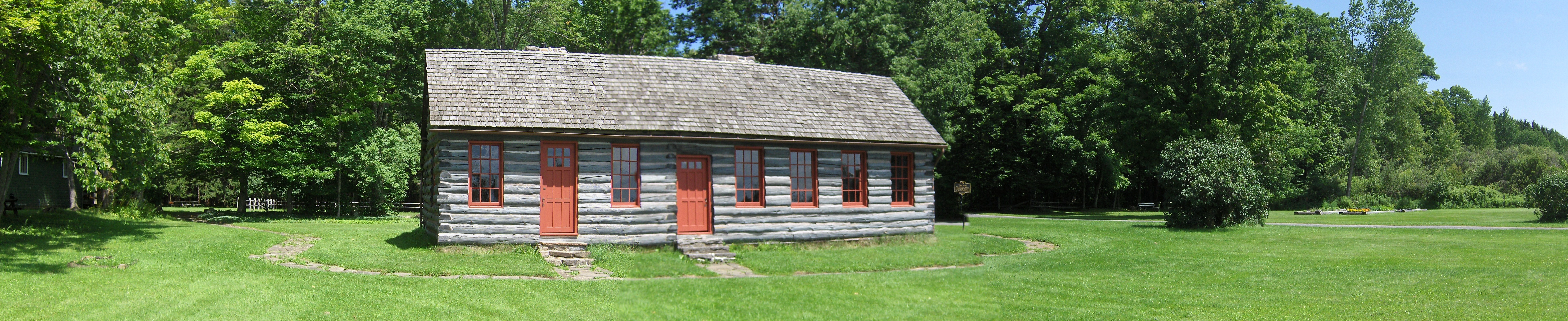 Steuben's replica log cabin