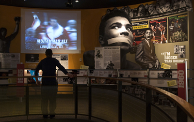 Video clips showing the life of Muhammad Ali