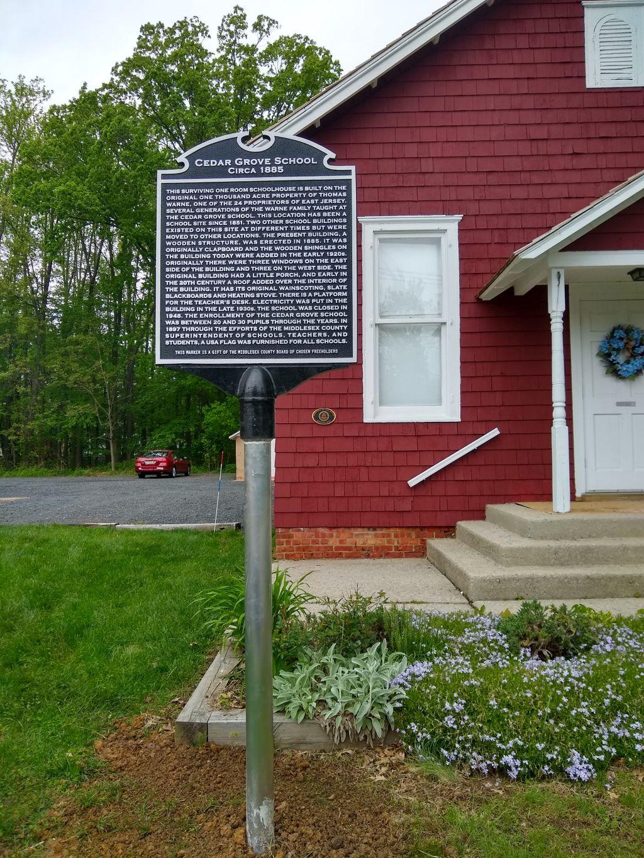 Cedar Grove School Sign