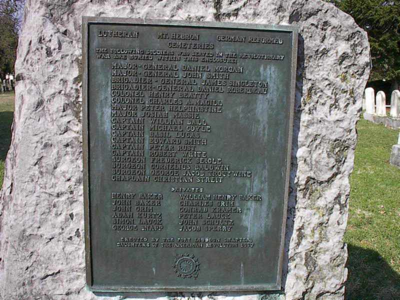 List of Revolutionary soldiers buried at Cemetery
