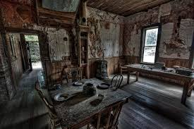 Inside of a home in Garnet Ghost Town