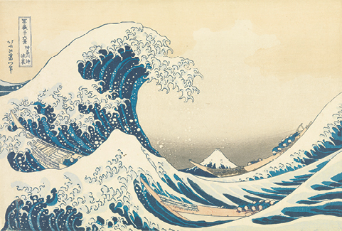 Under the Wave off Kanagawa, also known as the Great Wave by Katsushika Hokusai