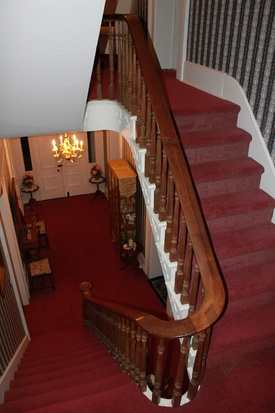 Photo of the staircase in the Powell-Redmond house.