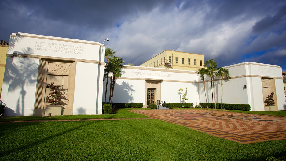 The Norton Museum of Art opened in 1941 in this modern art deco facility. The museum offers a variety of special programs and lectures, in addition to rotating exhibits from their collection.