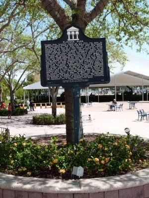 The city of West Palm Beach erected this marker in 1999.