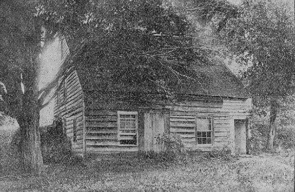 Birthplace and boyhood home of Wilford Woodruff. Photograph by Junius F. Wells, 1892, published in the Contributor, September 1892, 473.