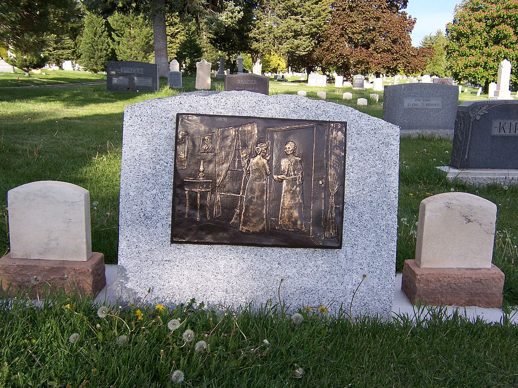 Back of monument to Jane Manning James in Salt Lake Cemetery