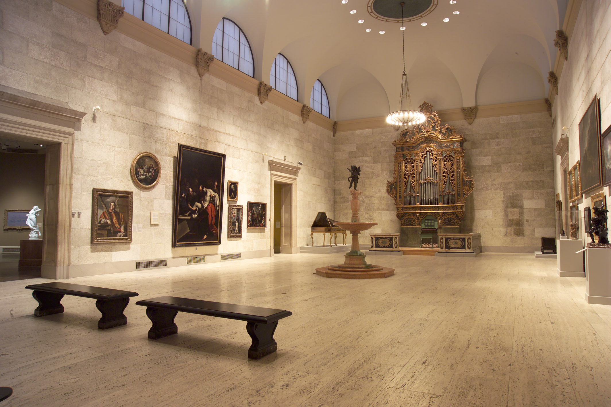 Interior view of the museum