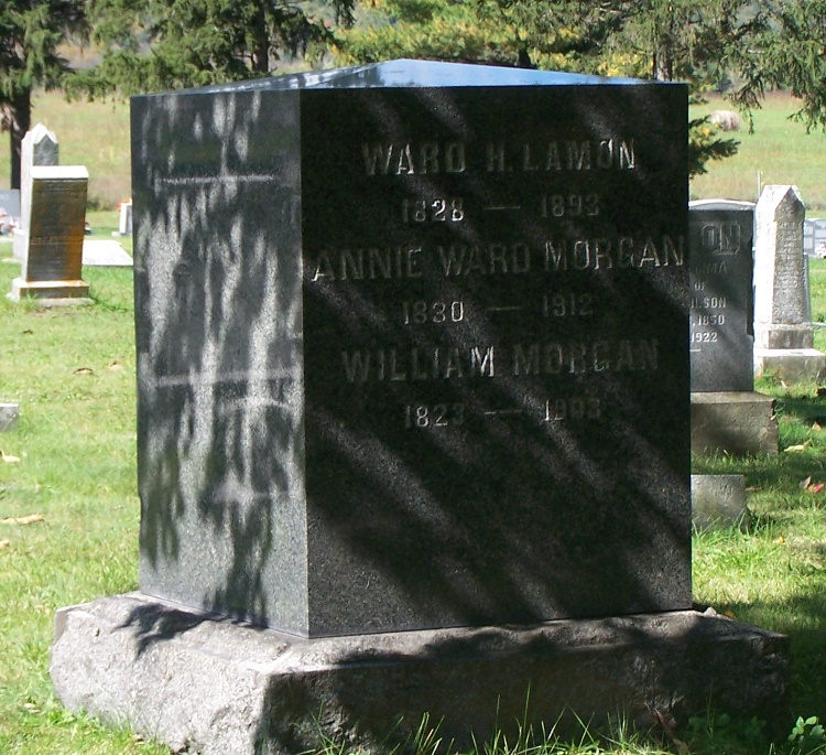 Ward Hill Lamon Headstone