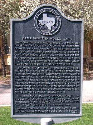 Camp Bowie marker