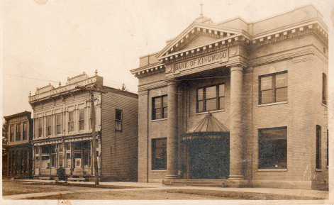 "McGrew's bank in which he worked as ""Head Cashier"" and later president."