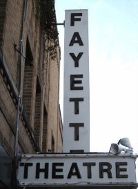 The Fayette Theatre Marquee.